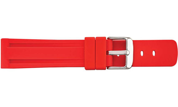 Silicone Red Heavy Sports Watch Strap