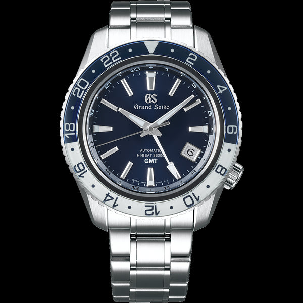 Grand Seiko SBGJ237 Hi-Beat GMT Carat & Co. Blue Dial Sapphire Crystal Bezel