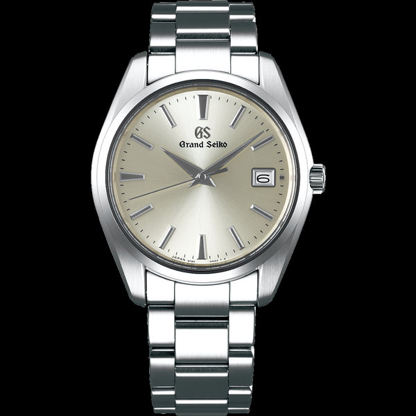 Grand Seiko SBGP009 $2,600 Heritage Quartz 9F85 Jumping Hour Champagne Dial Carat & Co.