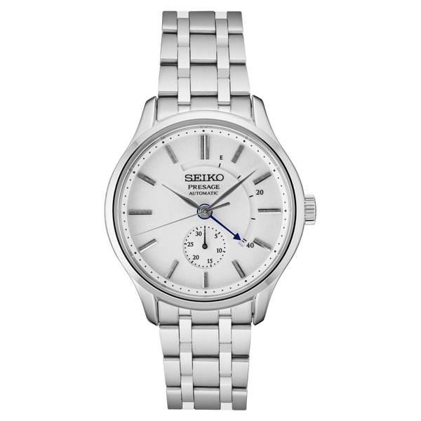 Seiko Presage Automatic Watch SSA395 White Dial with Power Reserve Sapphire Crystal