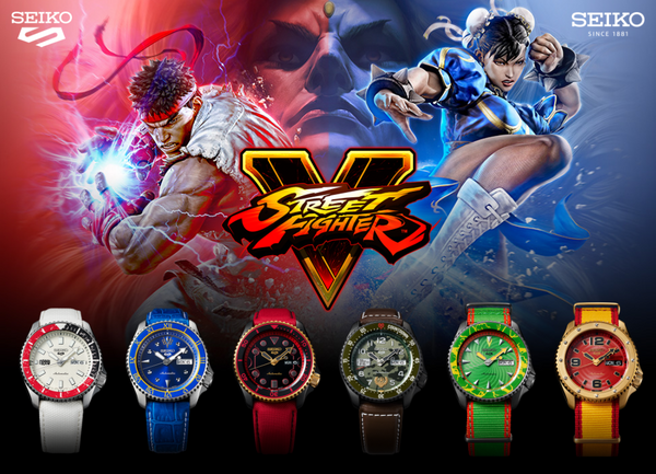 Seiko 5 Street Fighter V Limited Edition Bundle