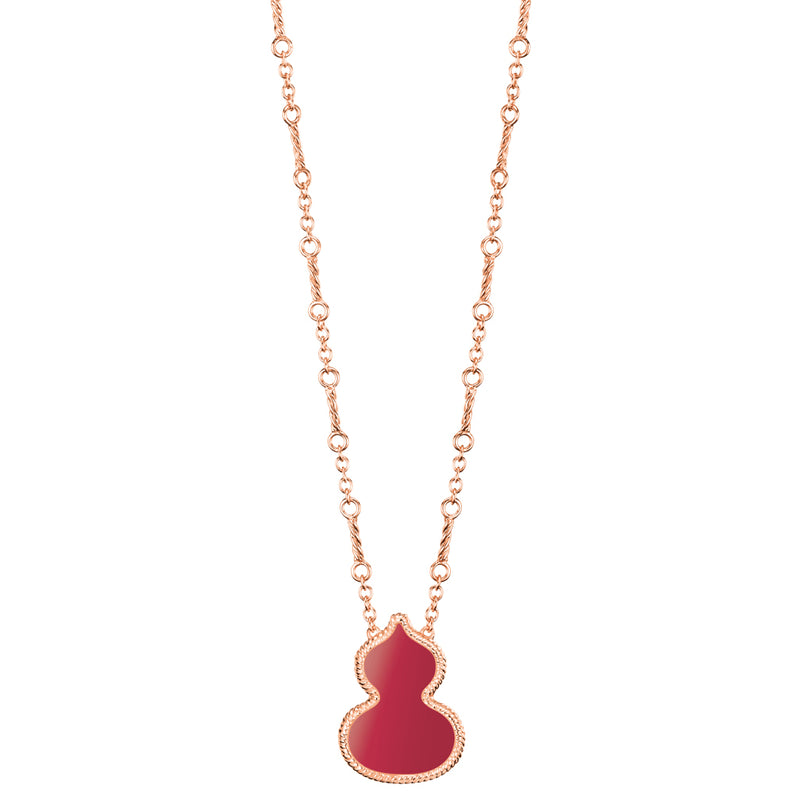 Wulu Necklace Red Agate
