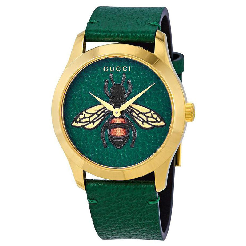 Gucci G-Timeless Emerald Green Bee YA1264065