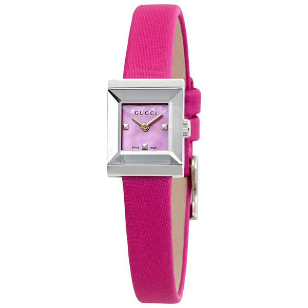 Gucci G-Frame Fuchsia Mother of Pearl Dial