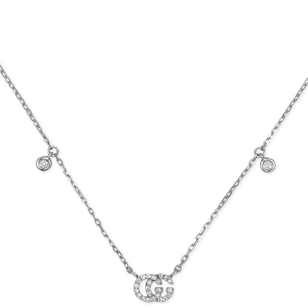 GG Running White Gold Necklace