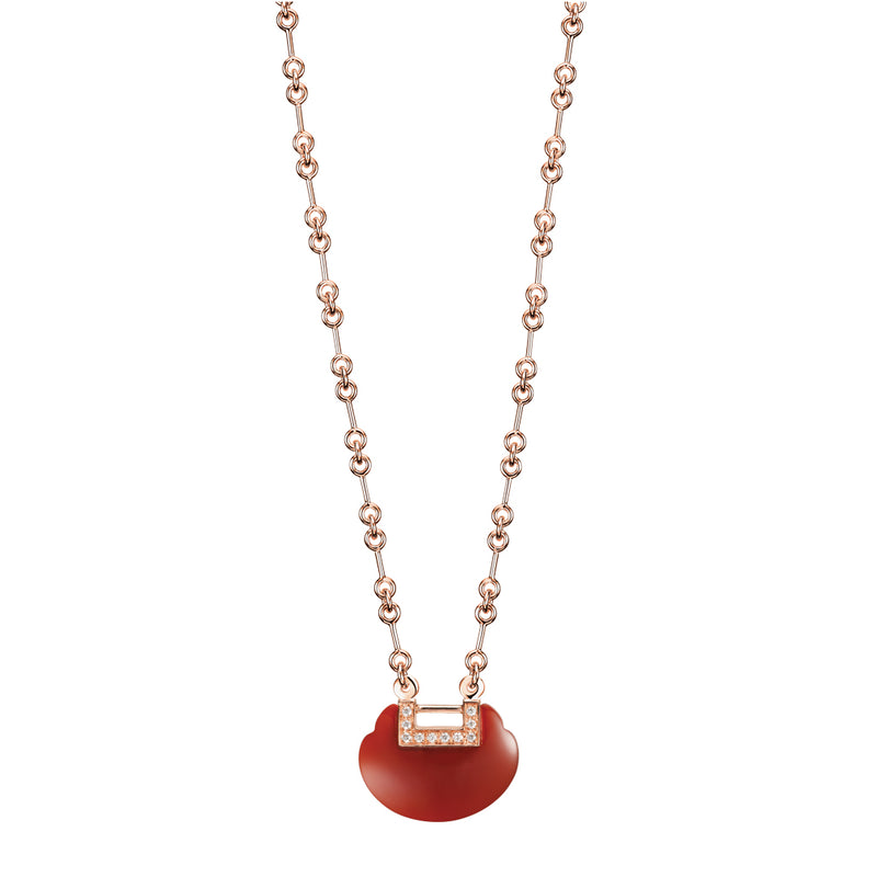 Small Yu Yi Necklace Red Agate