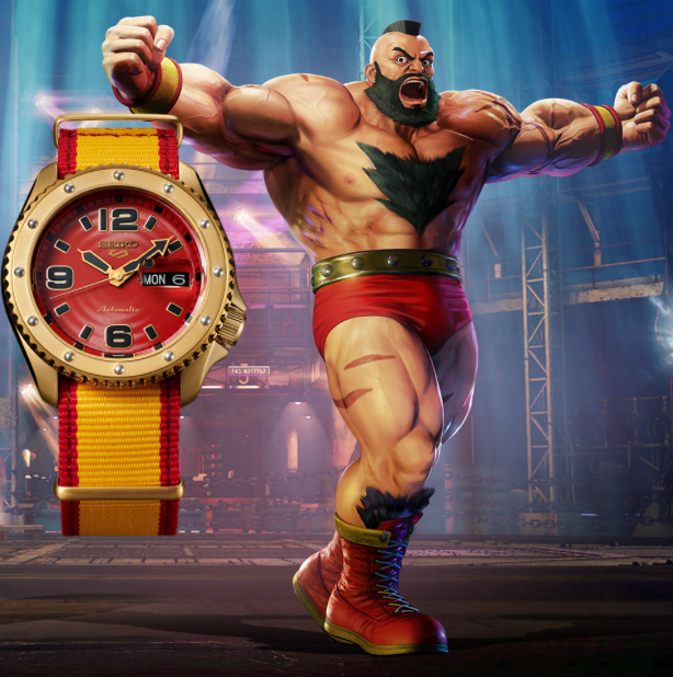 Seiko 5 ZANGIEF Street Fighter V Limited Edition SRPF24K1 preorder