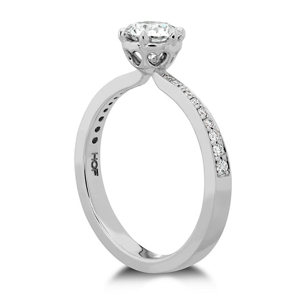 HOF Signature 6 Prong Engagement Ring Diamond Band