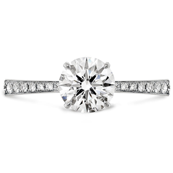 HOF Signature Engagement Ring Diamond Band White Gold (Setting Only)