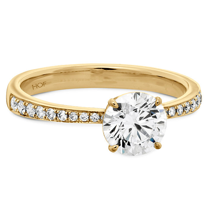 HOF Signature Engagement Ring Diamond Band Yellow Gold (Setting Only)