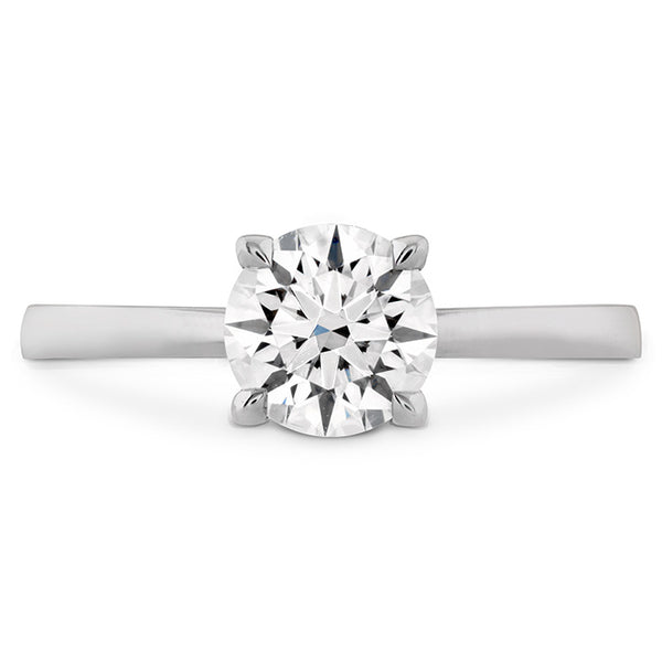 HOF Signature Solitaire Engagement Ring White Gold (Setting Only)