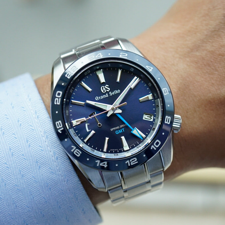Grand Seiko SBGE255 40.5mm Sport Collection Spring Drive GMT 2020 Blue Dial