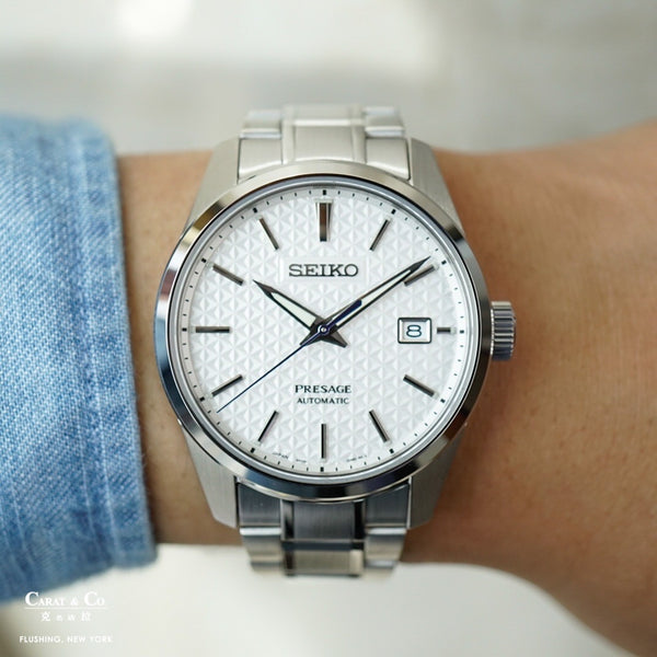 Seiko Presage Sharp Edge Series SPB165 White Dial