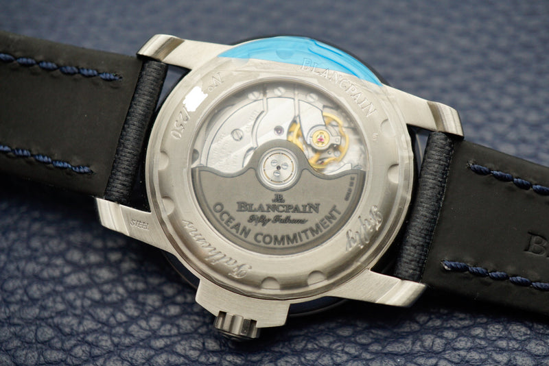 Blancpain Fifty Fathoms Ocean Commitment III Limited Edition 5008-11B40-52A caseback