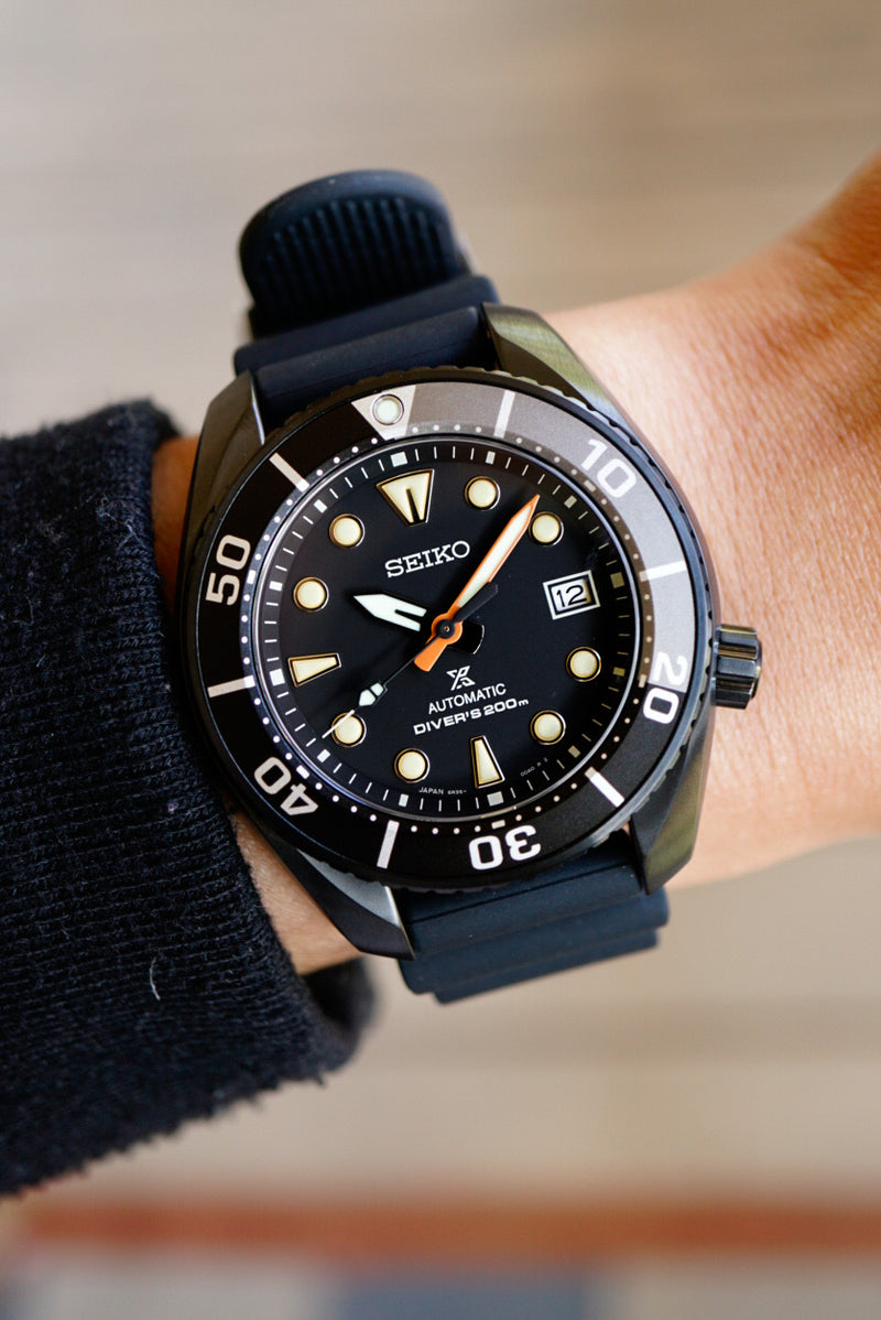 Seiko Prospex Automatic Dive Watch SPB125 Limited Black Series Edition Carat & Co.