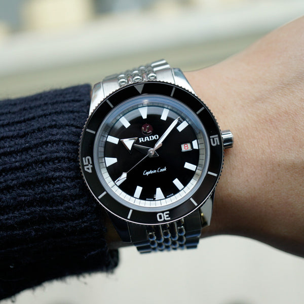 Rado Captain Cook R32505153 HyperChrome Ceramic Bezel 42mm Dive Watch Black Dial Carat & Co. Authorized Retailer