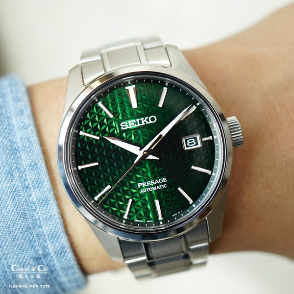 Seiko Presage Sharp Edge Series SPB169 Green Dial