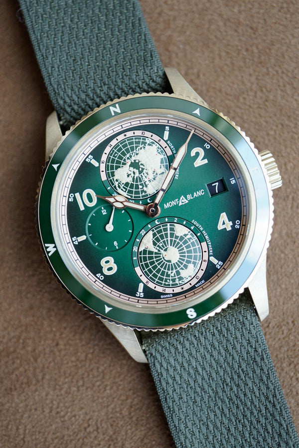 Montblanc 1858 Geosphere Bronze Limited Edition Green Dial Carat & Co.  119909