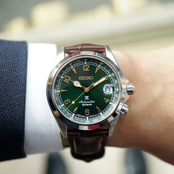 Seiko Prospex Alpinist SPB121 Green Dial Carat & Co. Authorized Retailer The Minute Mon, featured