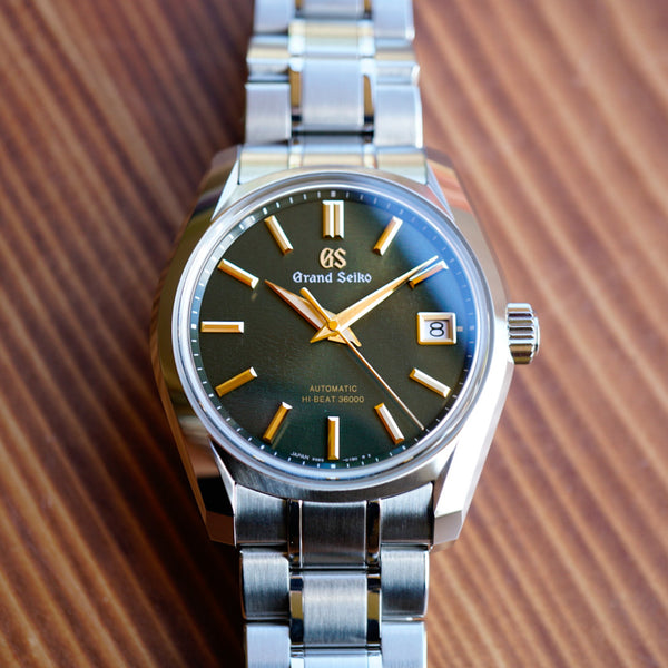 SBGH271 Grand Seiko Rikka Four Seasons USA Special Edition Summer Hi-Beat Green Dial Stainless Steel Watch Carat & Co. Authorized Retailer Macro