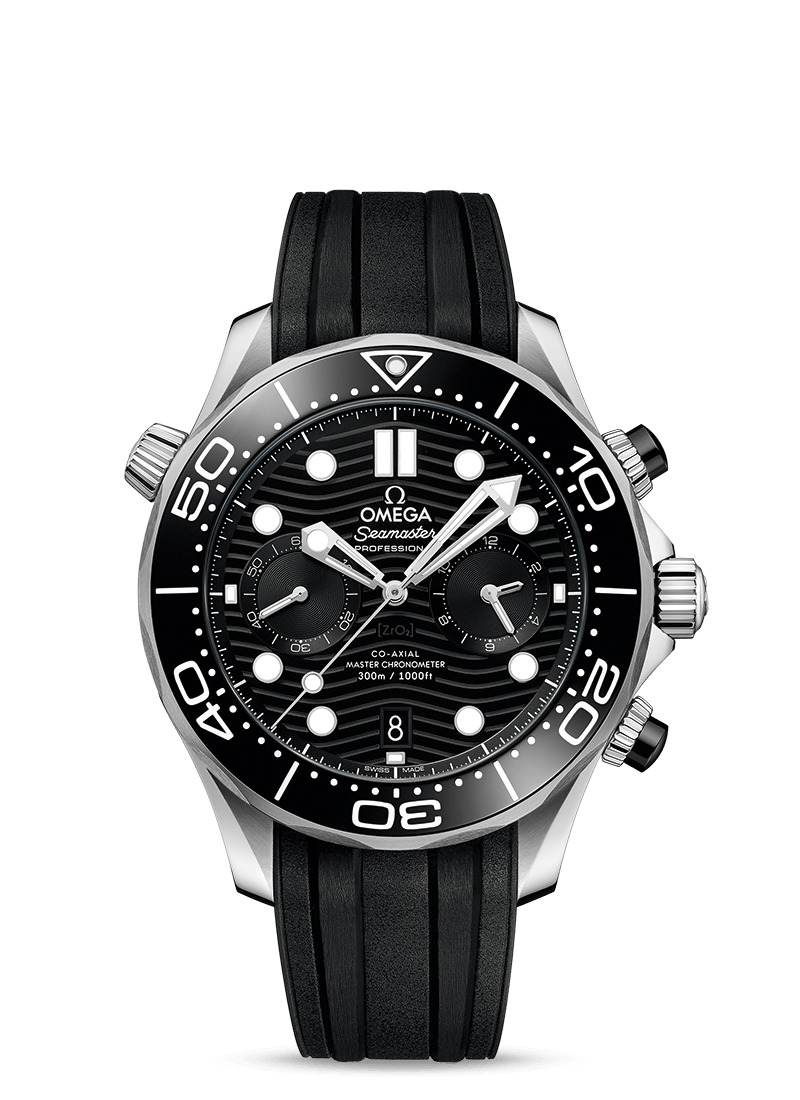 Omega Seamaster Diver 300M Chronograph Black Dial