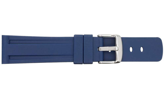 SB22 Blue Silicone Rubber Watch Strap