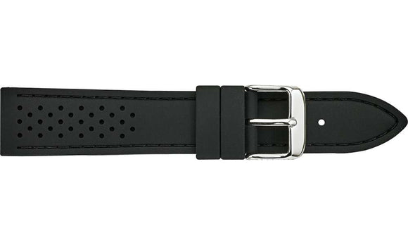 Silicone Black Rubber Racing Watch Strap