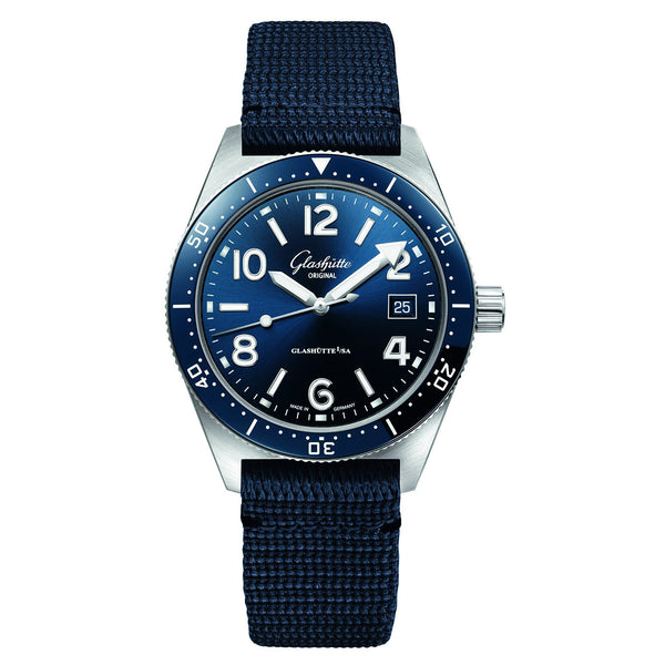 Spezialist SeaQ Blue Dial 39mm Synthetic Strap