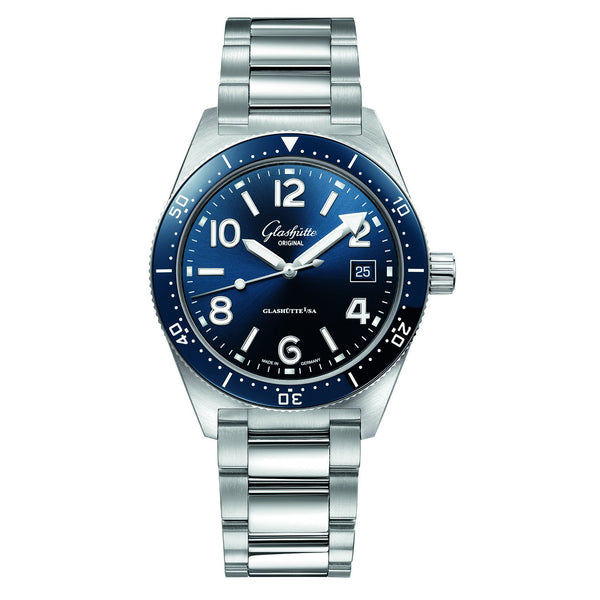 Spezialist SeaQ Blue Dial 39mm Steel Bracelet Dive Watch