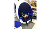 Alpha Egg Chair & Ottoman, Royal Blue