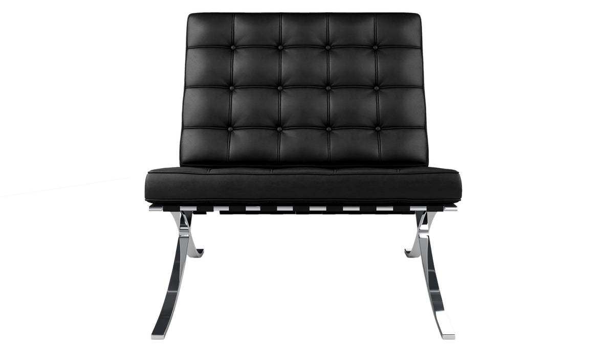 barcelona chair black italian leather modholic modholic