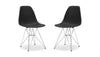 Eiffel Dining Chair With Wire Legs Black