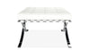 Barcelona Stool, White Real Leather