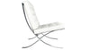 Barcelona Chair, White Italian Leather