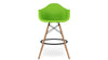 Eiffel Counter Stool With Arms, Green