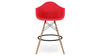 Eiffel Counter Stool With Arms, Red