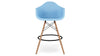 Eiffel Counter Stool With Arms, Blue
