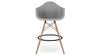 Eiffel Counter Stool With Arms, Gray