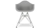 Eiffel Armchair With Steel Legs, Grey