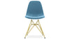 Eiffel Chair With Steel Legs, Blue Velvet