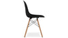 Eiffel Chair With Wood Legs, Black