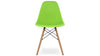 Eiffel Chair With Wood Legs, Green