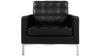 Allen Armchair, Black Italian Leather
