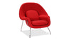 Womb Chair & Ottoman, Red Cashmere Wool