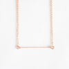 Short Delicate Hammered Bar Necklace in 14k Rose Gold-Fill