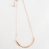 dainty, minimalist, and delicate rose gold women's disc choker necklace