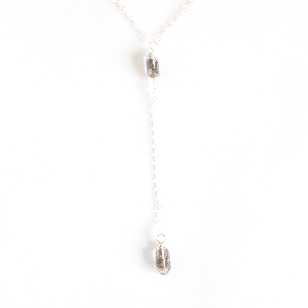 Herkimer Diamond Lariat Necklace - on-holiday