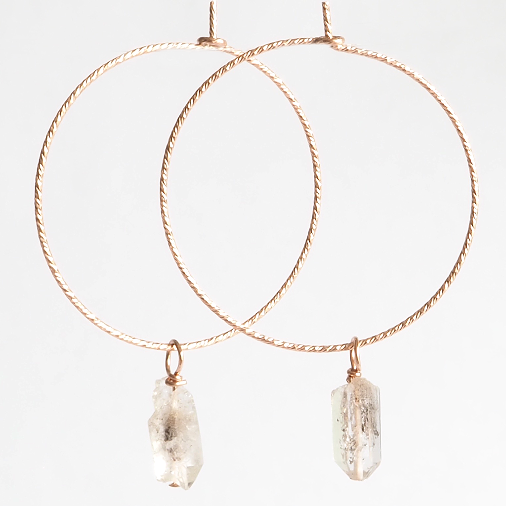 Herkimer Diamond Sparkle Hoop Earrings - on-holiday