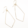 Delicate hand forged geometric teardrop earrings in sterling silver