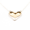 Double Heart Pendant Necklace - on-holiday